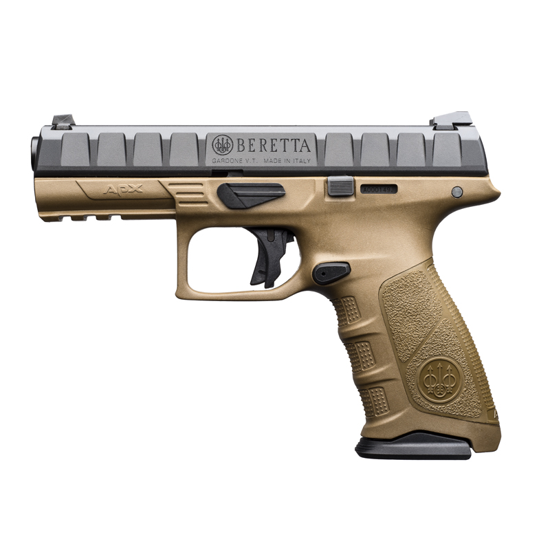 Beretta APX Grip Frame Flat Dark Earth color, it's sold with two additional back straps: thin and large size.