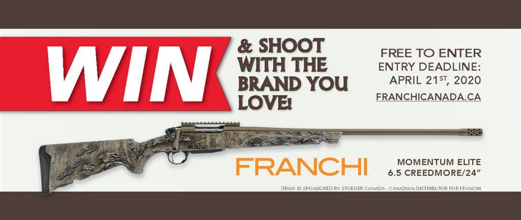 Banner Firearm Draw 2020 Franchi