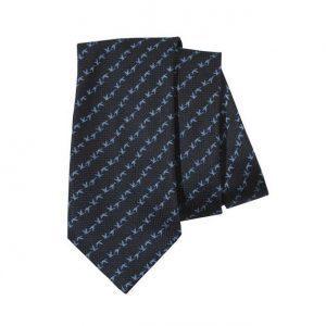 Beretta Jacquard Tie - Dark Blue