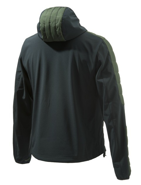 GU153T14190715 Beretta Static Soft Shell Jacket Green Back