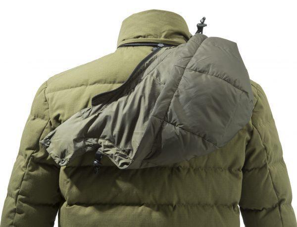 GU213T14170898 Beretta Terragon Down Cotton Jacket Olive Drab Hood
