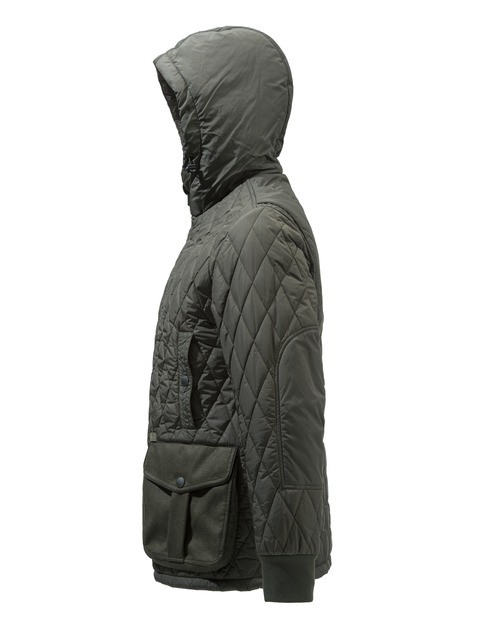 GU253T1393070Q Beretta Frisia Man's Quilted Coat Green Side