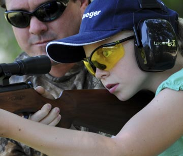 Stoeger Air Gun Girl shooting