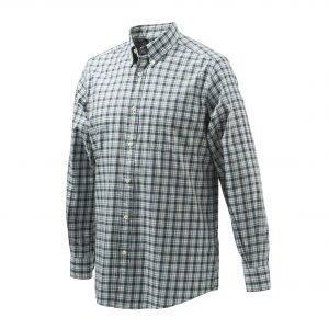 Beretta Classic Long Sleeve Shirt Light Blue Check Front