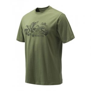 Beretta Engravers Ducks T Shirt Green Sage TS312T1557073T FRONT