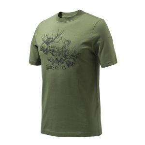 Beretta Engravers Moose T Shirt Green Sage TS322T1557073T FRONT