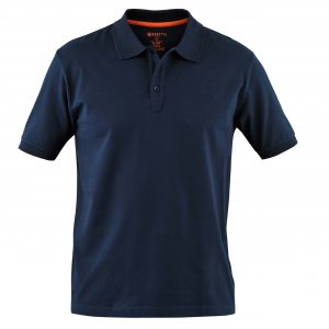Beretta Men's Corporate Polo Short Sleeve Shirt Blue Front