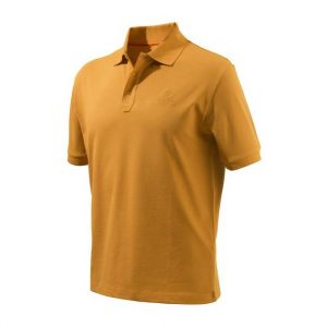 Beretta Men's Corporate Polo Short Sleeve Shirt Orange Front