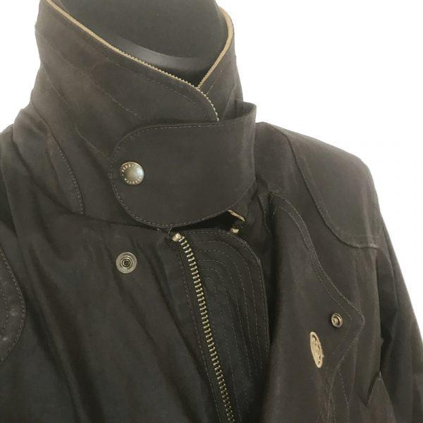 GU323T1407081550 Beretta Waxed Field Jacket Brown Collar 2