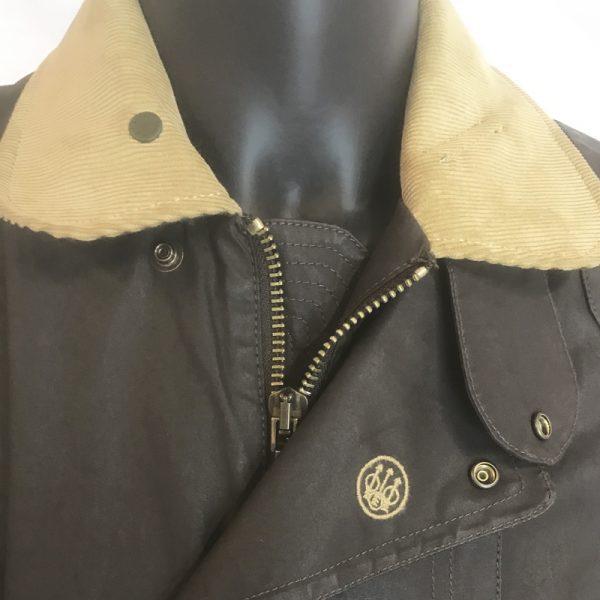 GU323T1407081550 Beretta Waxed Field Jacket Brown Collar