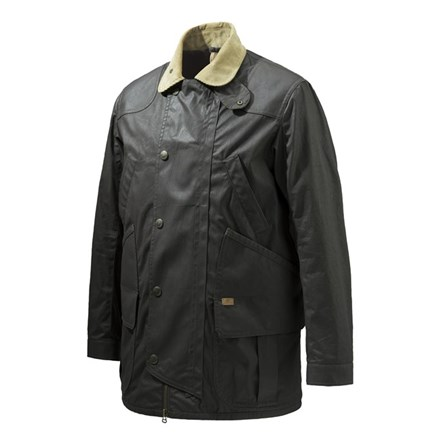 86538c6263 GU323T1407081550 Beretta Waxed Field Jacket Brown Front