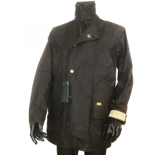 GU323T1407081550 Beretta Waxed Field Jacket Brown Front