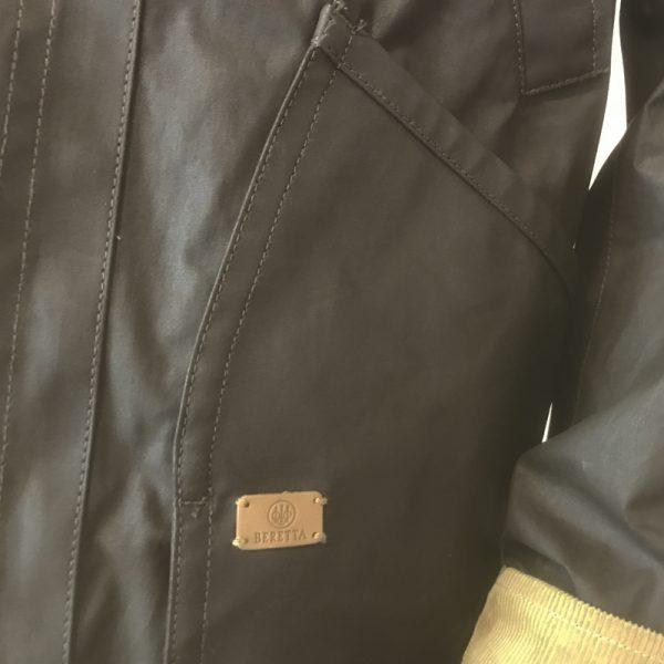 GU323T1407081550 Beretta Waxed Field Jacket Brown Pocket