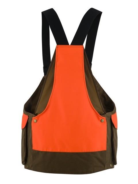 GU430020610853 Beretta Waxed Cotton Strap Vest Back