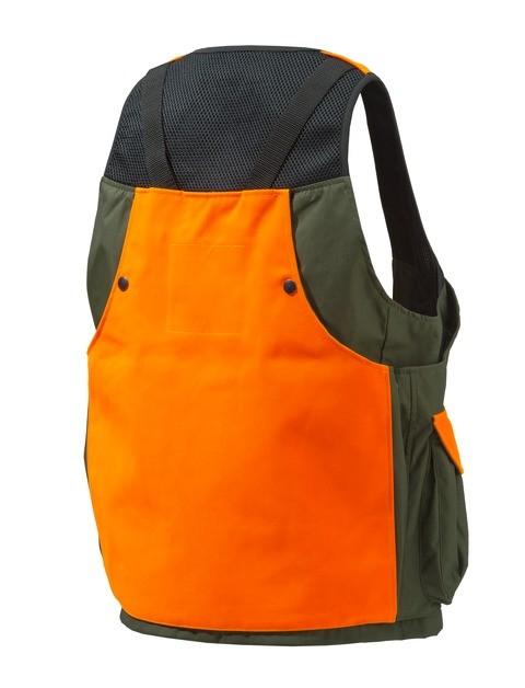 GU431T0649077W Beretta Game Bag Vest Orange And Green Back