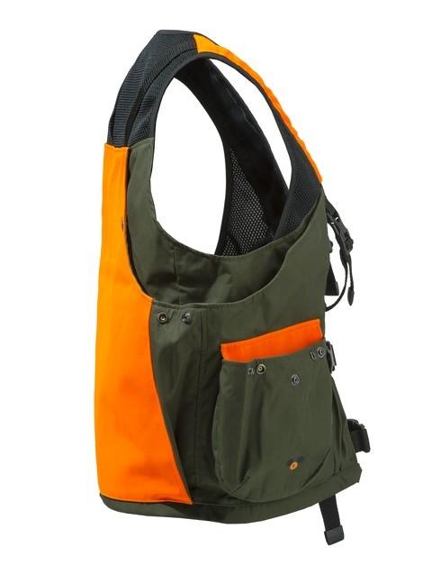 GU431T0649077W Beretta Game Bag Vest Orange And Green Side