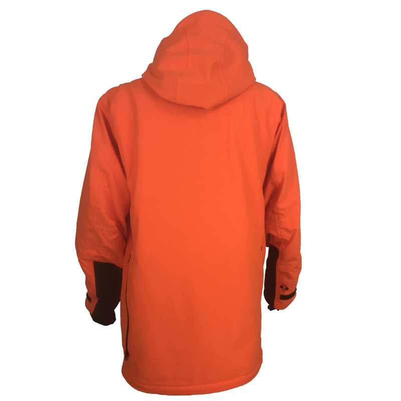 GU451022950402 Beretta Man's Insulated Static Jacket Blaze Orange Back