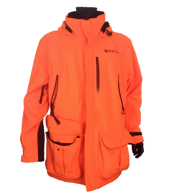 GU451022950402 Beretta Man's Insulated Static Jacket Blaze Orange Front