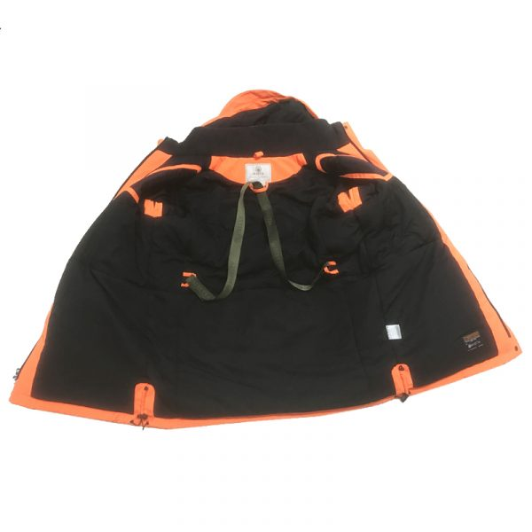 GU451022950402 Beretta Man's Insulated Static Jacket Blaze Orange Inside
