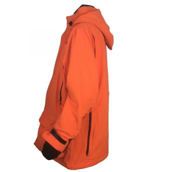 GU451022950402 Beretta Man's Insulated Static Jacket Blaze Orange Side