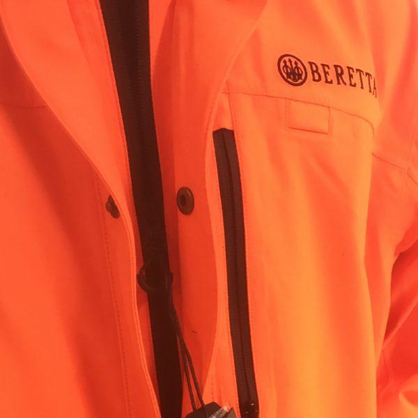 GU451022950402 Beretta Man's Insulated Static Jacket Blaze Orange Zipper