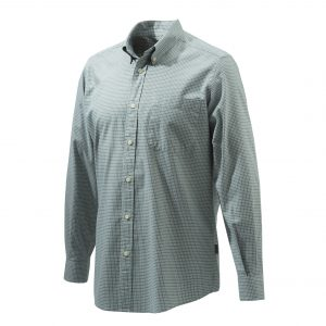 Beretta Classic Long Sleeve Shirt Green Fancy Front