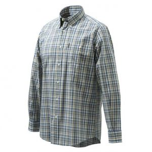 Beretta Men's Tom Shirt Blue Checkered