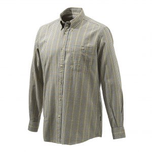 Beretta Sport Classic Botton Down Shirt Beige Checkered