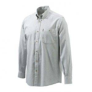 Beretta Sport Classic Botton Down Shirt White Checkered