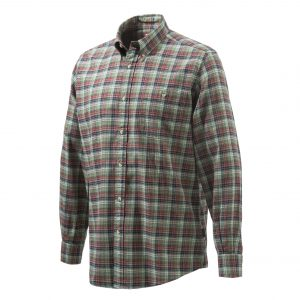 Beretta Sport Classic Botton Down Shirt Red Checkered