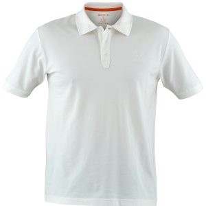 MP020072070100 Beretta Men's Corporate Polo Short Sleeve Shirt White Front