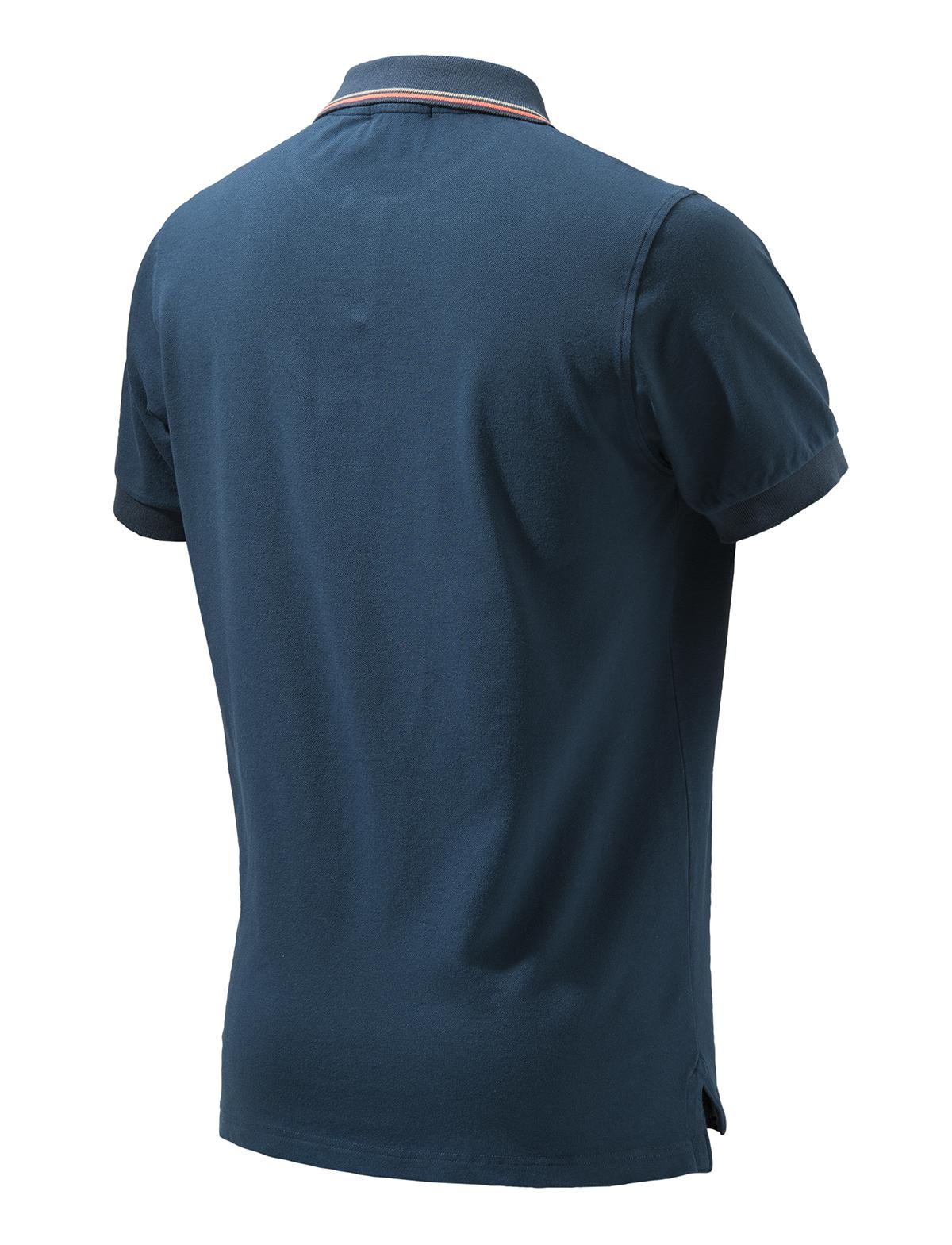 MP411T13540504 Beretta Culture Polo Short Sleeve Blue Back