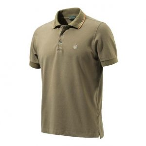 Beretta Culture Polo Short Sleeve Tobacco Front