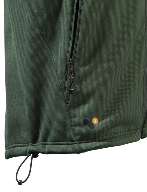 P3111T06570715 Beretta Static Fleece Vest Green Pocket