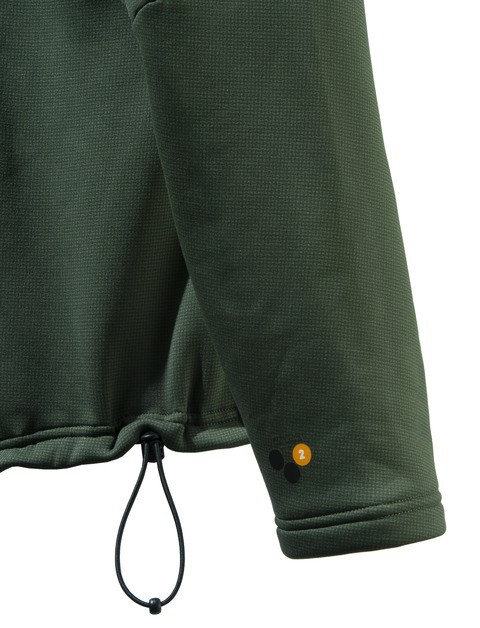 P3121T06570715 Beretta Static Fleece Jacket Green Sleeve