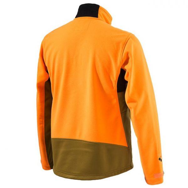 P3151T0655081G Beretta Soft Shell Fleece Jacket Light Brown And Orange Back
