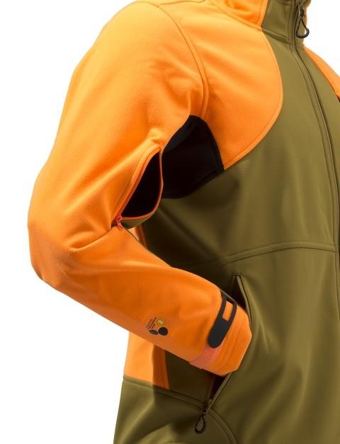 P3151T0655081G Beretta Soft Shell Fleece Jacket Light Brown And Orange Side