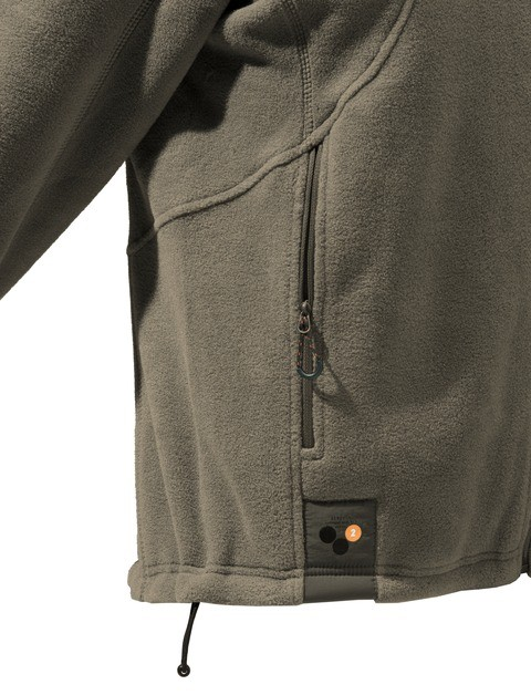 P3171T06540080X Beretta Active Track Fleece Jacket Brown Pocket