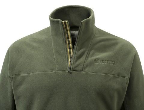 602b33de6d P3311T14340715 Beretta Half Zip Fleece Sweater Green Collar