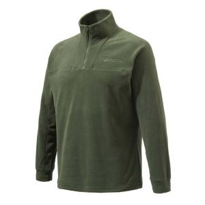 Beretta Half Zip Fleece Sweater Green Front