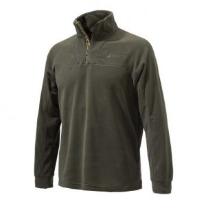 Beretta Half Zip Fleece Sweater Brown