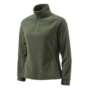 P3321T14340715 Beretta Women's Half Zip Fleece Sweater Green Front