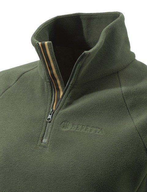 P3321T14340715 Beretta Women's Half Zip Fleece Sweater Green Collar
