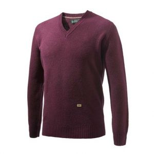 Beretta Pheasant V Neck Sweater Bordeaux