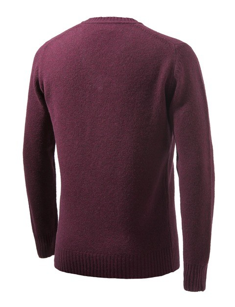 PU032T1480036A Beretta Pheasant V Neck Sweater Bordeaux Back