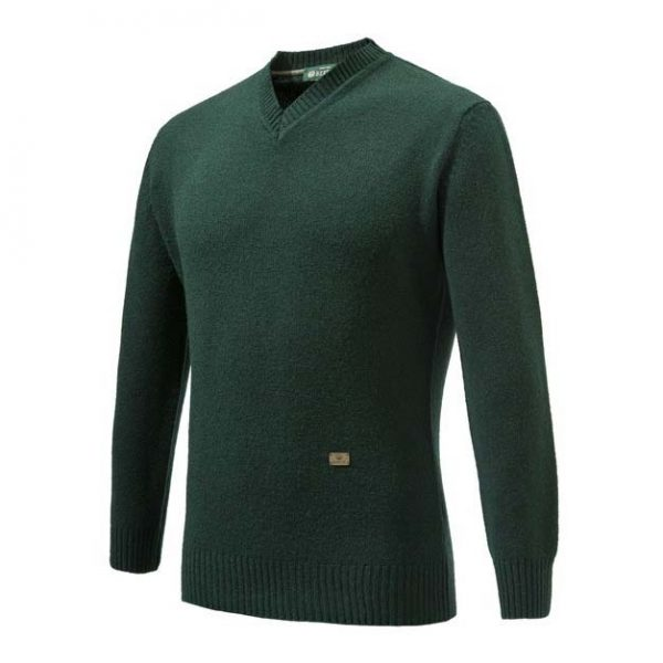 Beretta Pheasant V Neck Sweater Green