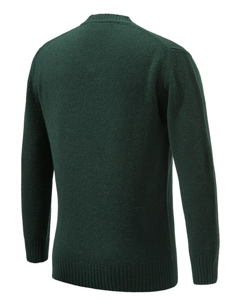 PU032T1480076C Beretta Pheasant V Neck Sweater Green Back