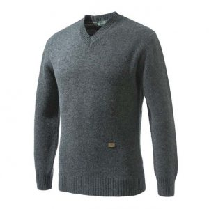 Beretta Pheasant V Neck Sweater Grey