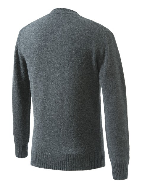 PU032T14800998 Beretta Pheasant V Neck Sweater Grey Back
