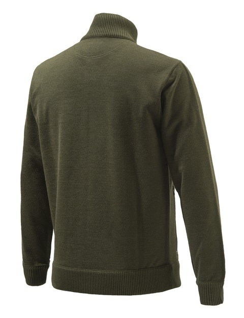 PU411T12010715 Beretta Techno Windshield Long Zip Sweater Green Back